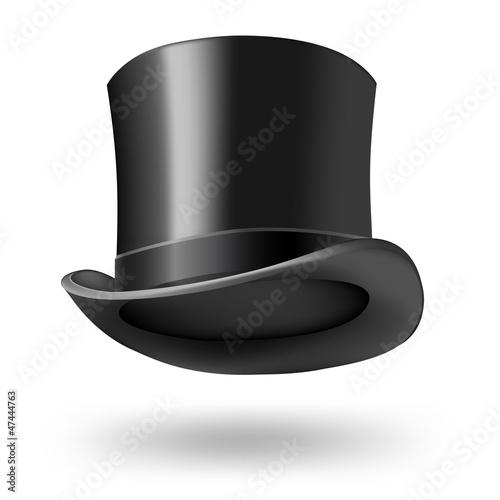 Photo black getleman hat on white