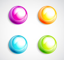 Colorful Bubble Buttons