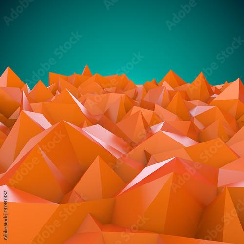Foto op Canvas Baksteen Abstract landscape