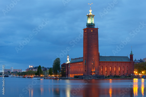 Tela  Stockholm City Hall at night