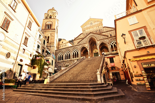Fototapeta Square of the Cathedral of St Andrea in Amalfi