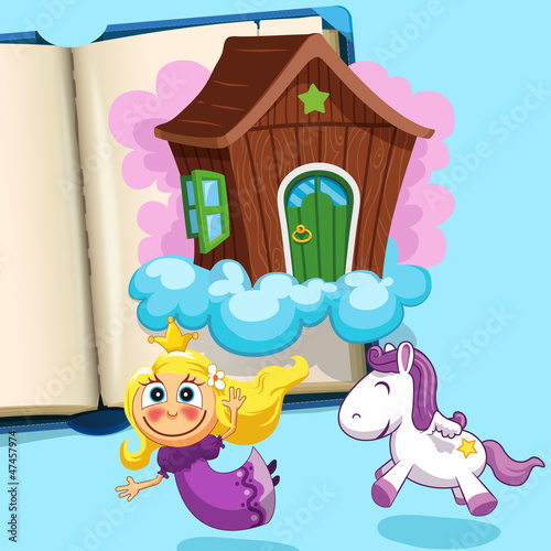 Garden Poster Pony Little princess with pony