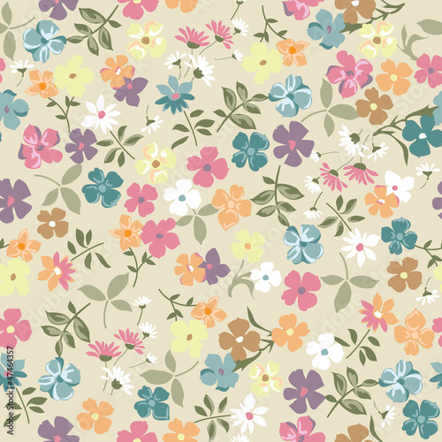 Cute vintage ditsy background