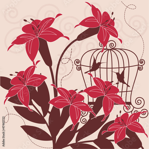 In de dag Vogels in kooien Birds in cage