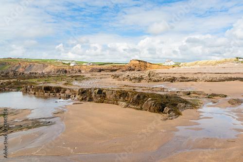 Canvas Print Widemouth Bay Cornwall