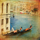 Wenecja - Gondole w Grand Canal - 47472149