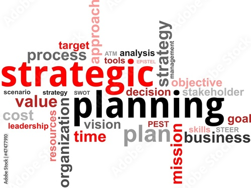 Fotografía  word cloud - strategic planning