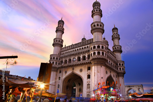 Poster India 400 Year old historic Charminar in Hyderabad India