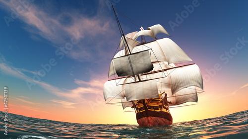帆船 Fototapeta