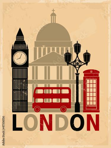 Photo  Vintage London Poster