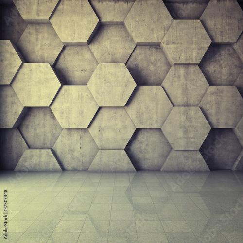 geometryczna-sciana-z-szesciokatow