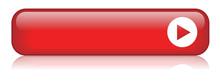BLANK Web Button (rectangular Red Icon Arrow)