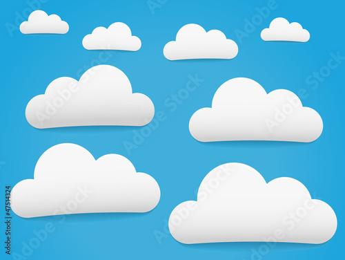 Papiers peints Ciel Blue Sky and Clouds
