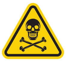 Grunge Sign With The Scull And Bones