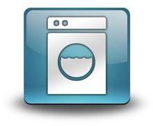 """Light Blue 3D Effect Icon """"Laundromat"""""""