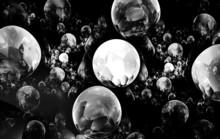 Colour Abstract Art Balls  Bac...