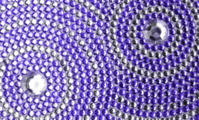 Fototapetaviolet and silver texture with crystals