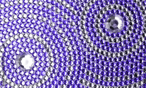 violet and silver texture with crystals - 47537328