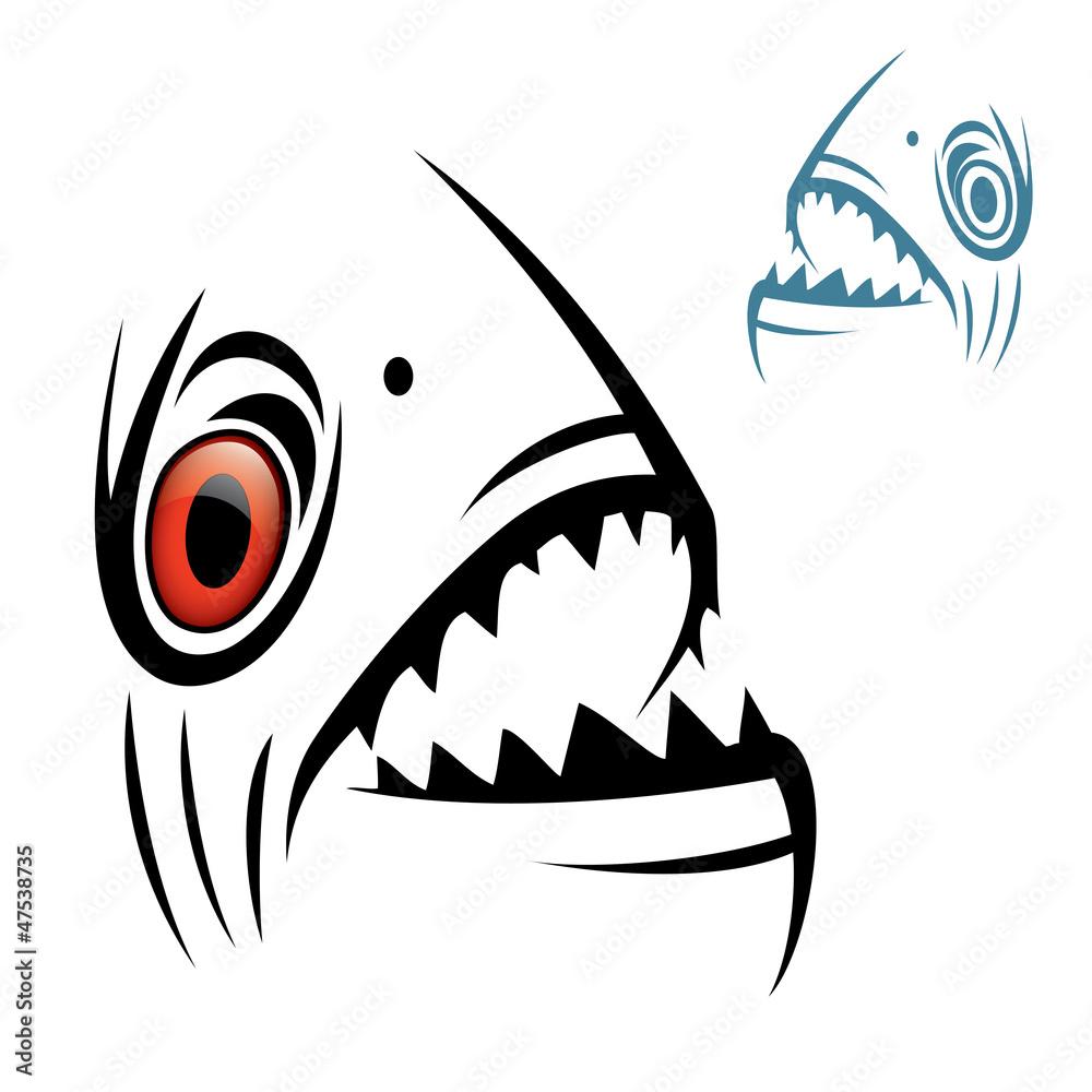 Valokuva  Piranha head