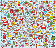 Big Christmas Collection Of Small Illustrations