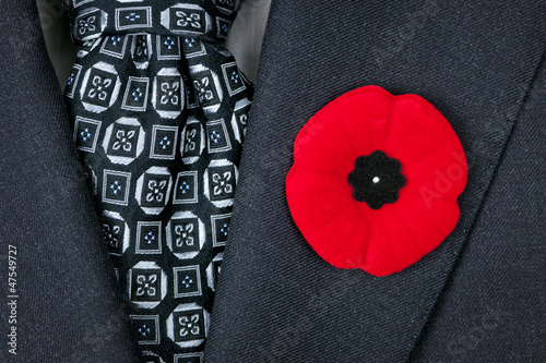 Fotobehang Poppy Remembrance Day poppy on suit