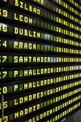 Photo  Departure board in Spain
