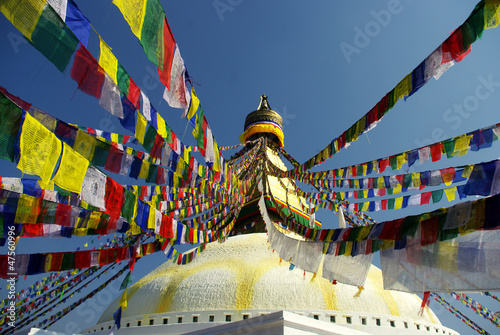 Staande foto Nepal Kathmandu stupa
