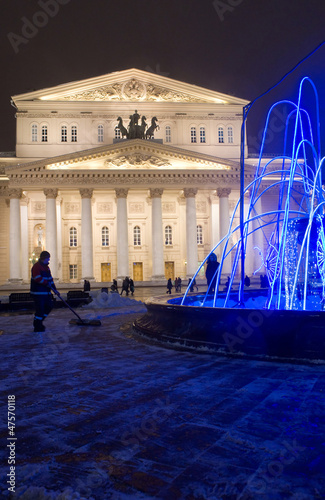 Photo  Moscow, Bolshoi theatre night