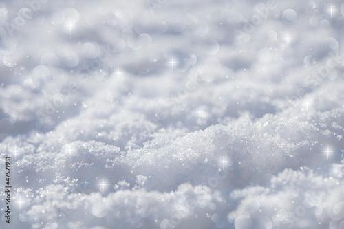 Fototapety, obrazy: effective blue snow background, very tiny focus