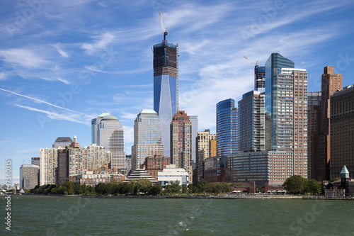 The New York City Downtown w the Freedom tower Poster