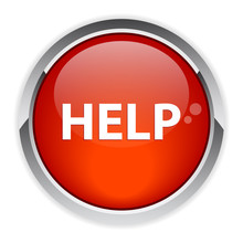 Bouton Internet Help Icon Red