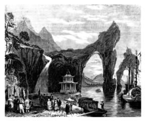 Obraz Chinese Landscape - 19th century
