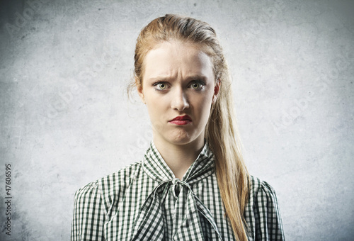 Fotografie, Tablou  Irritated Girl