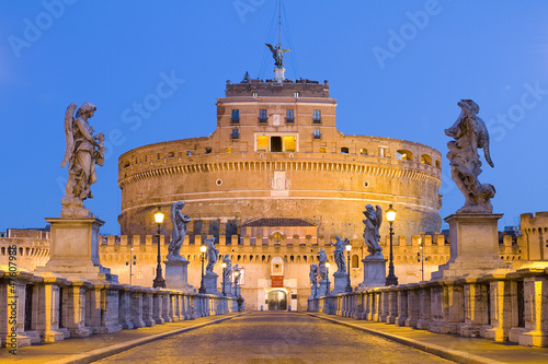 Poster Rome Castel Sant'angelo in Rome, Italy