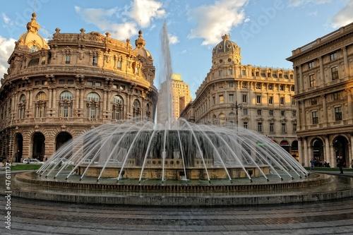 Fotografia  Genova,Piazza de Ferrari