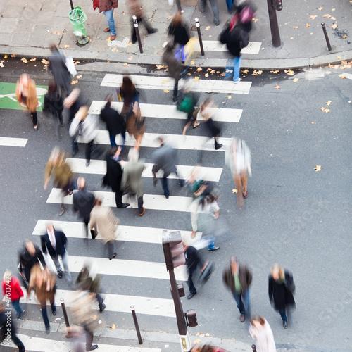 Menschenmassen in der Stadt Fototapete