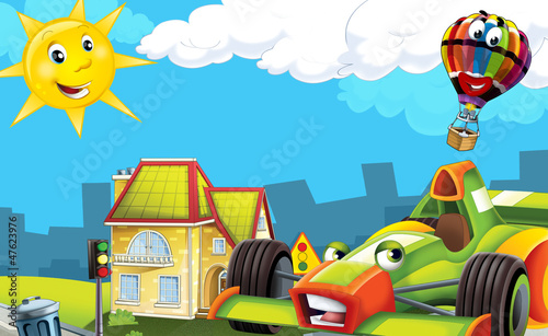 Recess Fitting Cars Cartoon city look with f1