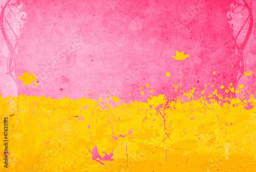 Fotobehang Graffiti flower abstract