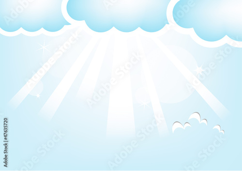 Tuinposter Hemel Cloud And Sky, Vector Illustration
