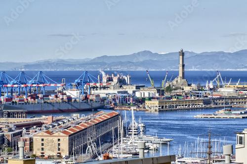 Fotografia  Il porto di Genova Visto dall'alto