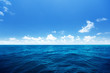 canvas print picture - perfect sky and water of indian ocean