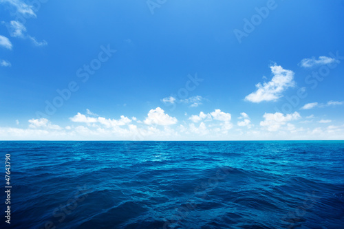 Aluminium Prints Ocean perfect sky and water of indian ocean