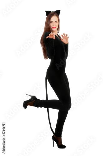 Obraz na plátne Playful young woman