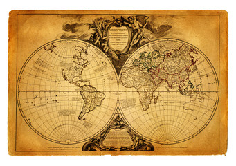 Fototapeta Mapy map of world 1752