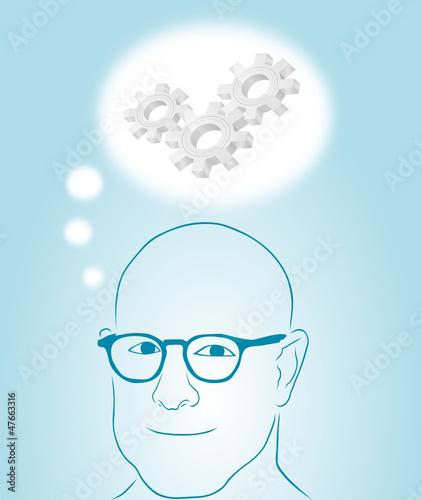 Obraz mężczyzna myślący - fototapety do salonu