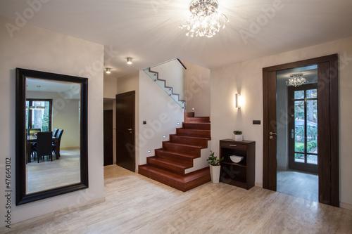 Travertine house: hallway Fototapete