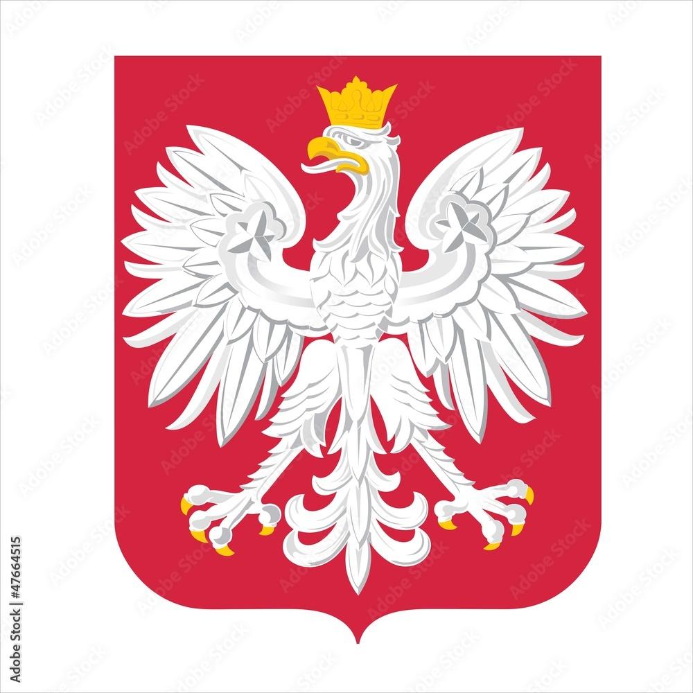 Fototapeta Official state emblem of Poland