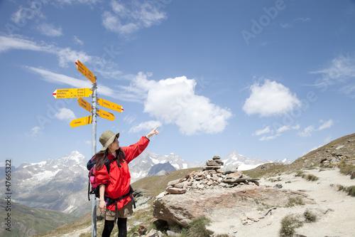Spoed Foto op Canvas Alpinisme スイスのトレッキングコース