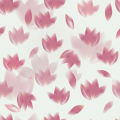 FototapetaPink tulips / Romantic seamless background
