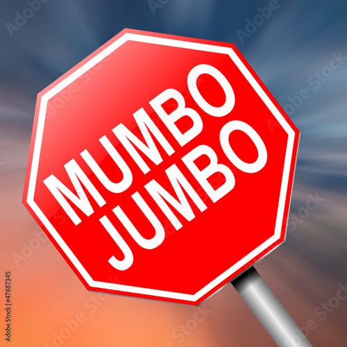 Photo  Mumbo jumbo concept.